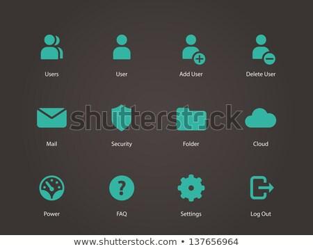 часто · задаваемые · вопросы · зеленый · вектора · икона · кнопки · веб - Сток-фото © rizwanali3d