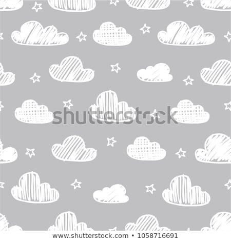 вектора шаблон серый облака иллюстрация Сток-фото © Galyna