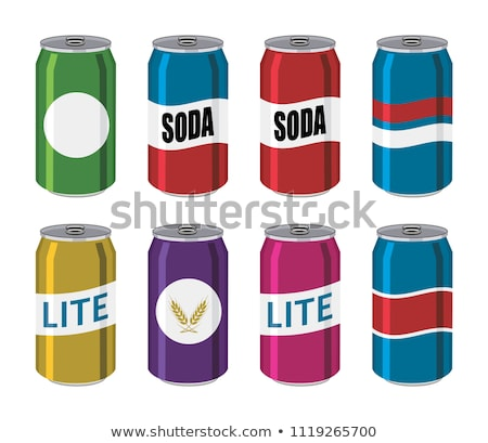 flat vector cans coke red and blue Stock photo © MaxPainter