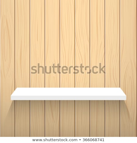 Vector realistic background - wooden wall Stock photo © pzaxe