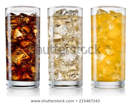 Glas ijs citroen soda drinken water Stockfoto © somdul