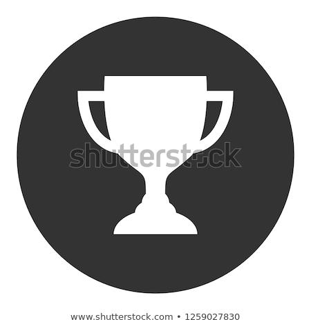 Dorado trofeo taza icono aislado blanco Foto stock © timurock