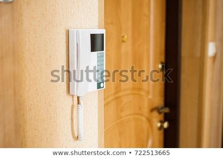 ドアベル · アクセス · コード · パネル · 壁 · 技術 - ストックフォト © stevanovicigor