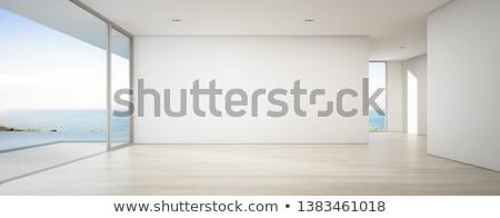 Lege kamer illustratie mysterieus deuropening gebouw licht Stockfoto © paulfleet