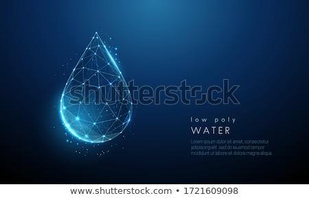 水滴 青 清浄水 ドロップ 黒 ストックフォト © blackmoon979