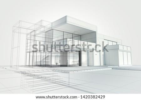 építkezés · terv · 10 · üzlet · ház · háttér - stock fotó © sdCrea