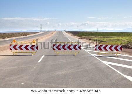 puerta · aislado · blanco · 3d · coche · carretera - foto stock © oakozhan