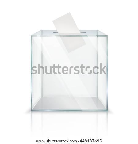 Valósághű üres átlátszó szavazócédula doboz szavazás Stock fotó © tussik