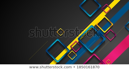 Naranja brillante técnica vector formas Foto stock © fresh_5265954
