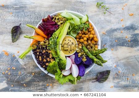 vegan · tigela · almoço · vegetal · refeição · dieta - foto stock © m-studio