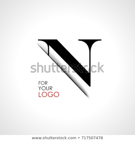 Készít n betű logoterv sablon absztrakt retro Stock fotó © SArts