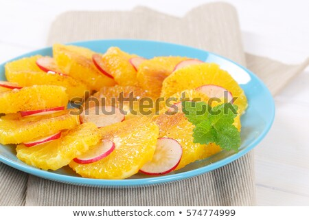 oranje · radijs · kaneel · turkoois · kom - stockfoto © digifoodstock