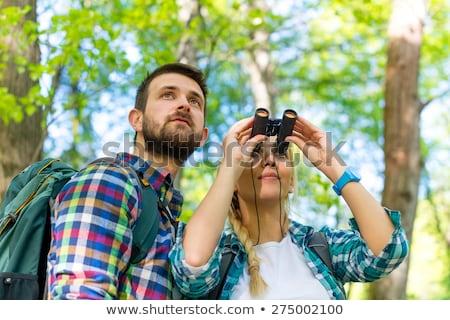 Naar verrekijker bos af weg Stockfoto © wavebreak_media