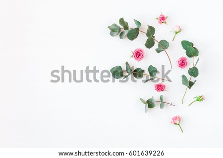 Stok fotoğraf: Floral Top View Background
