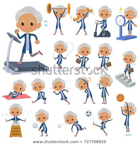 Cardigã velho mulheres exercer conjunto Foto stock © toyotoyo