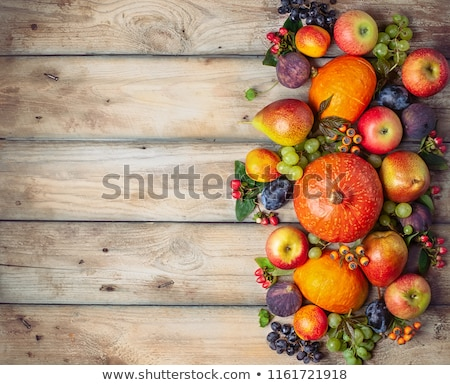 autumn with pumpkins and fruits stock photo © karandaev