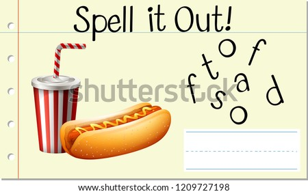 Spell it out fastfood Stock photo © bluering