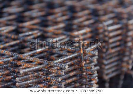 bouw · abstract · nieuwe · blauwe · hemel · huis · hout - stockfoto © feverpitch