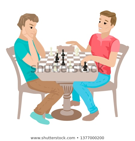 Triest cartoon schaken pion illustratie schaakstuk Stockfoto © cthoman
