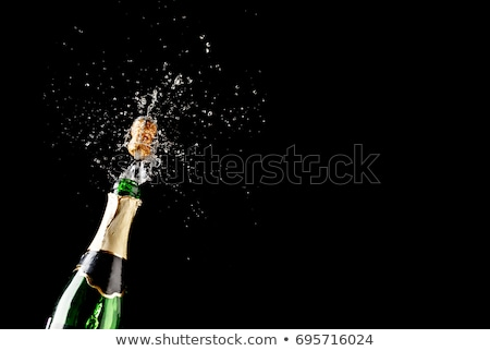 şampanya · yeni · yıl · süslemeleri · iki · tok - stok fotoğraf © unikpix