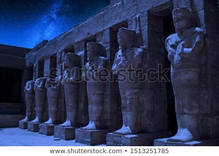 Gyönyörű egyiptomi tájkép romok piramisok Giza Stock fotó © Givaga