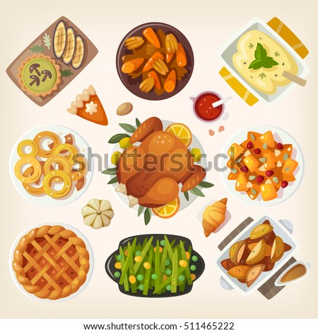 Thanksgiving Food Holiday Baked Pie Icon Vector Stock photo © robuart
