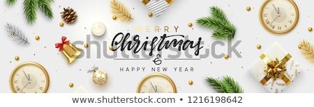 Christmas goud pine vakantie groene Stockfoto © fresh_5265954