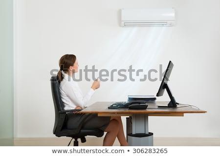 Mujer de negocios acondicionador de aire oficina jóvenes remoto negocios Foto stock © AndreyPopov