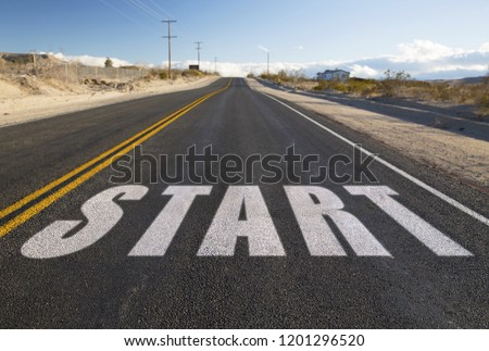 close up of word forward on suburban asphalt road Stock photo © dolgachov
