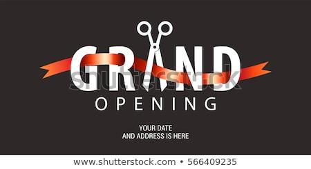 Otwarcie ceremonia uroczystości szablon sklepu korony Zdjęcia stock © SArts