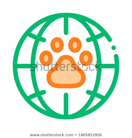 Animal Trail Planet Earth Vector Thin Line Icon Stock photo © pikepicture