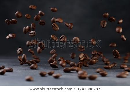 Granos de café gris espacio de la copia textura diseno fondo Foto stock © Melnyk