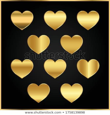 Glühend golden glitter Diamant Symbol schwarz Stock foto © SArts