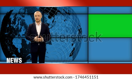 Tv noticias ancla arte pop retro dibujo Foto stock © studiostoks