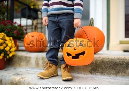 Lanterne portico halloween gruppo zucca illustrazione 3d Foto d'archivio © solarseven