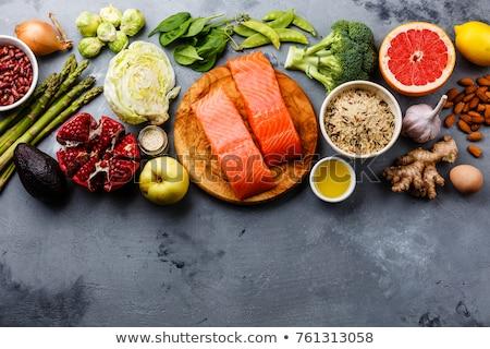 gezonde · producten · koolhydraten · voedsel · selectieve · aandacht · pasta - stockfoto © furmanphoto