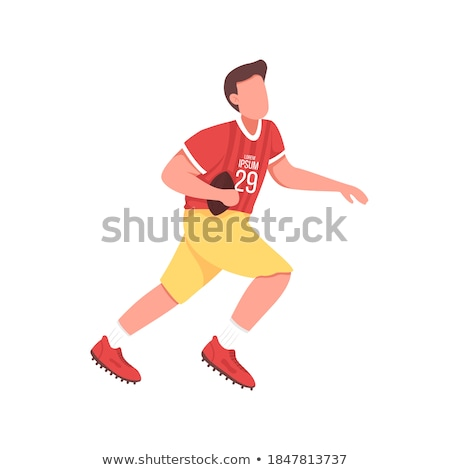 rugby league football game isolated character run stock photo © robuart