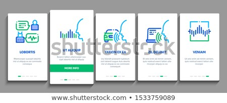 Voice Control Onboarding Elements Icons Set Vector Stock photo © pikepicture