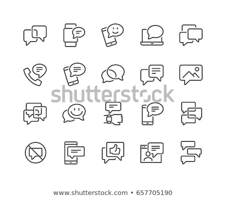 debate icon set stock photo © bspsupanut
