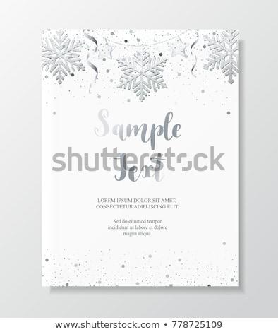 Weihnachten Neujahr Silber Schneeflocke Dekoration Girlande Stock foto © olehsvetiukha