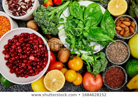Healthy food background, trendy Alkaline diet products. Stock photo © Illia