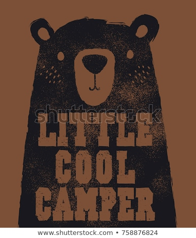 Bear in the camping Stock photo © barsrsind