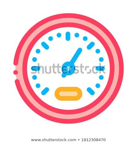 Atléta sebesség index ikon vektor skicc Stock fotó © pikepicture
