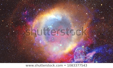 Colored nebula and open cluster of stars in the universe. Elements of this image furnished by NASA Stock photo © NASA_images