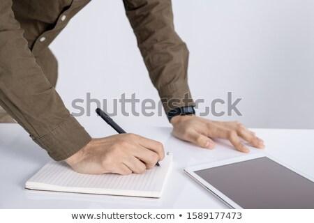 рук студент пер пустая страница мышления Сток-фото © pressmaster