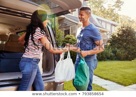 食料品 袋 戻る 車 ドア ストックフォト © jsnover