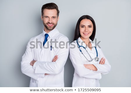 médico · retrato · médico · estetoscopio · cuello · mirando - foto stock © pressmaster