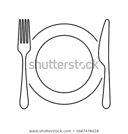 Abstract of Dining Table with Place Settings Stock photo © feverpitch