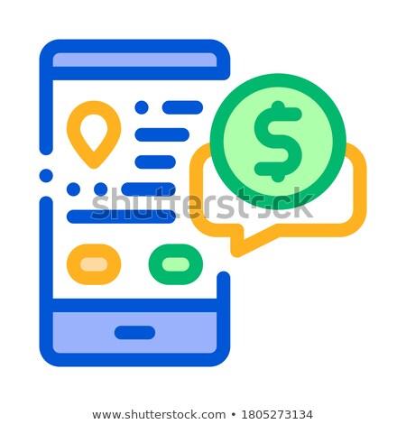On-line conversar táxi preços acordo ícone Foto stock © pikepicture