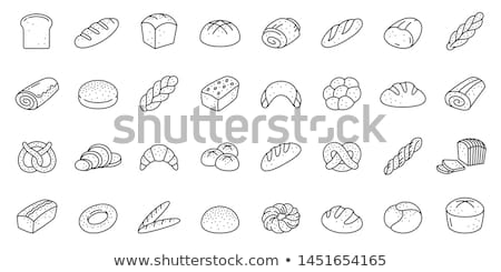 Loaf of Rye Bread Slice, Baked Products Food Icon Stock photo © robuart
